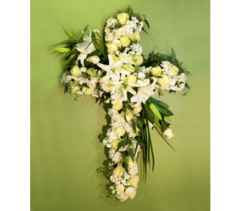 Amazing Sympathy Cross in Merrick NY, Feldis Florists