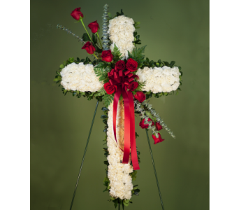 Exquisite Sympathy Cross  in Merrick NY, Feldis Florists