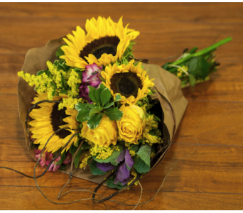 Summer Sun European Hand Tied Bouquet.  in Merrick NY, Feldis Florists