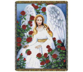 Rose Garden Angel Tapestry in Johnstown PA, Schrader's Florist & Greenhouse, Inc