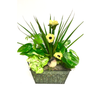 Rectangular Metal Planter - 3 Sizes Available in Wyoming MI, Wyoming Stuyvesant Floral
