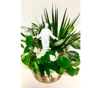 Likeness of Jesus Basket Planter- 3 Options in Wyoming MI, Wyoming Stuyvesant Floral