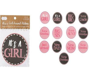IT'S A GIRL STICKER SET in Oklahoma City OK, Trochta's