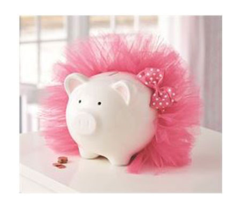 BABY GIRL TUTU PIGGY BANK in Oklahoma City OK, Trochta's