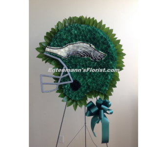 Philadelphia Eagles Helmet in Jersey City NJ, Entenmann's Florist
