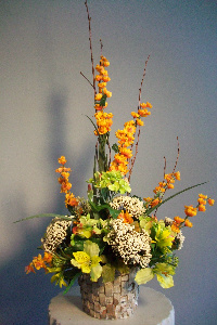 Green and Orange Silk in Huntington WV, Archer's Flowers and Gallery