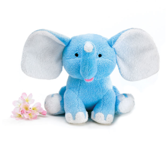 Blue Cuddly Buddy Elephant in Fort Myers FL, Ft. Myers Express Floral & Gifts