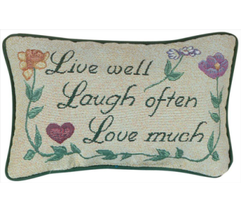 Live Well... Word Pillow in Niles OH, Connelly's Flowers