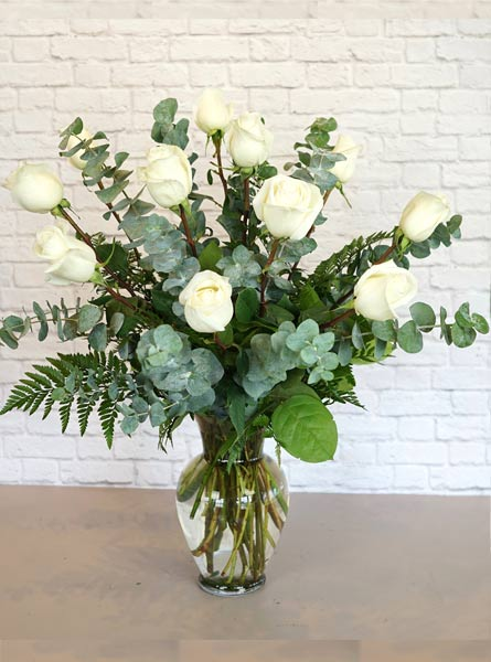 One Dozen Premium White Roses in Clarks Summit PA, McCarthy-White's Flowers