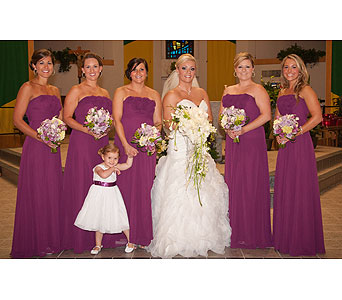 Wedding Party in Holladay UT, Brown Floral