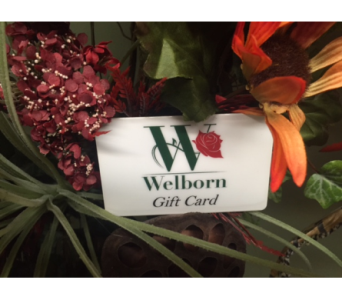 Welborn Gift Card for Any Occasion in Owensboro KY, Welborn's Floral Company