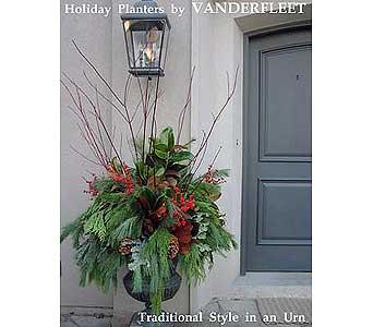 Christmas outdoor planters toronto planters by vanderfleet traditional holiday planter in etobicoke on vanderfleet flowers workwithnaturefo