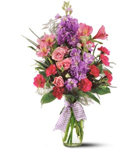 Teleflora's Fragrance Vase - Deluxe in St. Helens OR, Flowers 4 U & Antiques Too