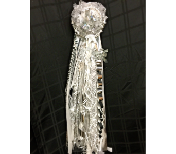 Homecoming Mum Silver in Rockwall TX, Lakeside Florist