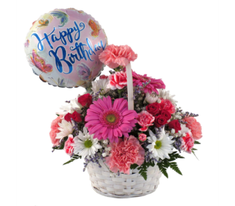 Birthday Butterfly Basket Bouquet in Southfield MI, Thrifty Florist