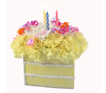 Birthday Cake Slice Bouquet in Southfield MI, Thrifty Florist