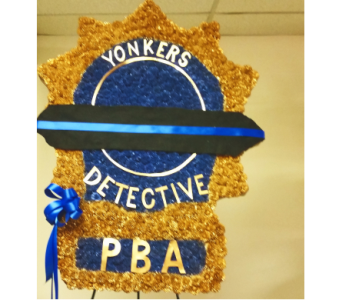 Police Shield in Yonkers NY, Beautiful Blooms Florist