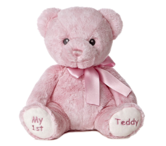 My 1st Teddy Baby Girl 12in in Ajax ON, Reed's Florist Ltd