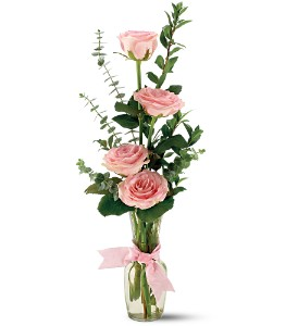Teleflora's Rose Quartet Vase in Yonkers NY, Beautiful Blooms Florist