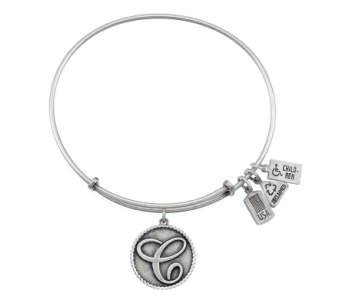 Love Letter 'C' Charm Bangle Silver in Eustis FL, Terri's Eustis Flower Shop