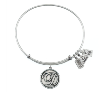 Love Letter 'D' Charm Bangle Silver in Eustis FL, Terri's Eustis Flower Shop