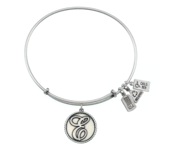 Love Letter 'E' Charm Bangle Silver in Eustis FL, Terri's Eustis Flower Shop
