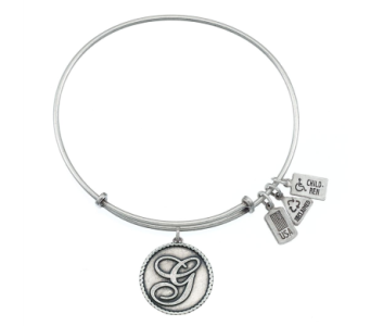 Love Letter 'G' Charm Bangle Silver in Eustis FL, Terri's Eustis Flower Shop