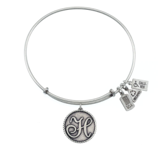 Love Letter 'H' Charm Bangle Silver in Eustis FL, Terri's Eustis Flower Shop