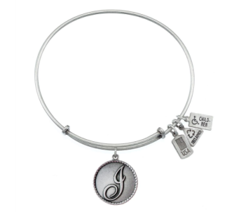 Love Letter 'I' Charm Bangle Silver in Eustis FL, Terri's Eustis Flower Shop