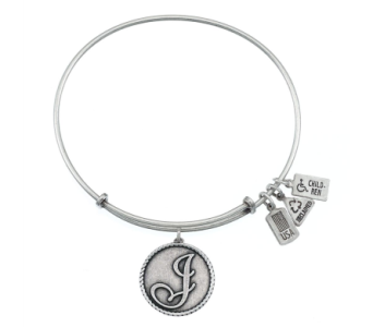 Love Letter 'J' Charm Bangle Silver in Eustis FL, Terri's Eustis Flower Shop