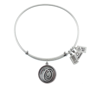 Love Letter 'O' Charm Bangle Silver in Eustis FL, Terri's Eustis Flower Shop