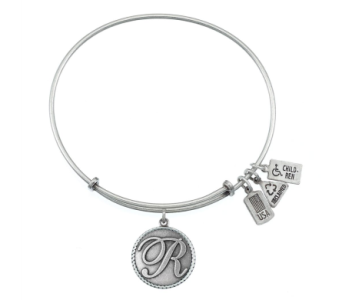 Love Letter 'R' Charm Bangle Silver in Eustis FL, Terri's Eustis Flower Shop