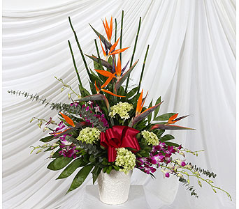 Funeral Basket Tropical in Southampton PA, Domenic Graziano Flowers