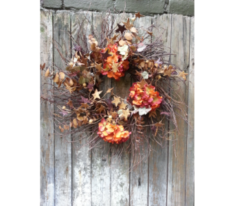 Rustic Colors of Fall Custom Wreath in Ambridge PA, Heritage Floral Shoppe