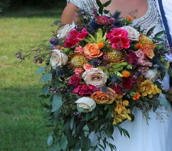 Exotic Bouquet in Kingston NY, Flowers by Maria