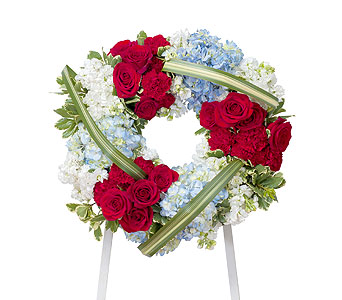 Honor Wreath in Mount Morris MI, June's Floral Company & Fruit Bouquets