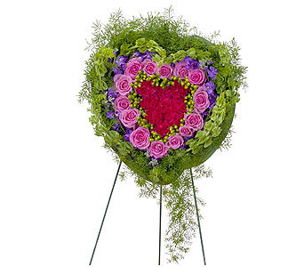 Forever Cherished Heart in Mount Morris MI, June's Floral Company & Fruit Bouquets