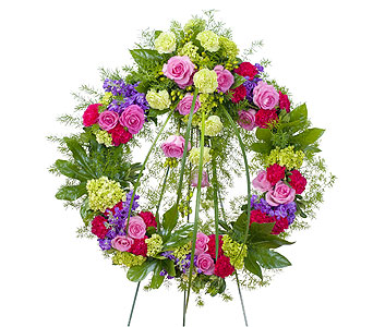 Forever Cherished Wreath in Durham NC, Angel Roses Florist