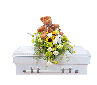 Tiny Angels Casket Spray in Abington MA, The Hutcheon's Flower Co, Inc.