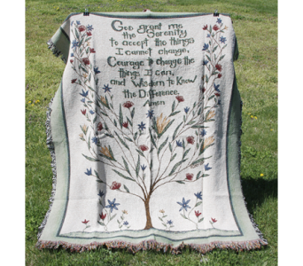 Serenity Prayer Afghan in New Albany IN, Nance Floral Shoppe, Inc.