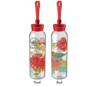 Sketch Floral Water Bottle in Skowhegan ME, Boynton's Greenhouses, Inc.