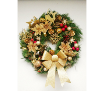 Golden Reindeer-MED in Naples FL, Naples Flowers, Inc.