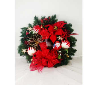 Santa Wreath-MED in Naples FL, Naples Flowers, Inc.