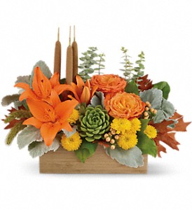 Teleflora's Fall Bamboo Garden in Tyler TX, Country Florist & Gifts