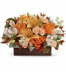 Teleflora's Fall Chic Bouquet in Highland CA, Hilton's Flowers