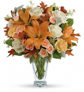 Teleflora's Seasonal Sophistication Bouquet in Los Angeles CA, La Petite Flower Shop