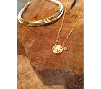 Tri Delta Circle Necklace in Ft. Collins CO, Palmer Flowers