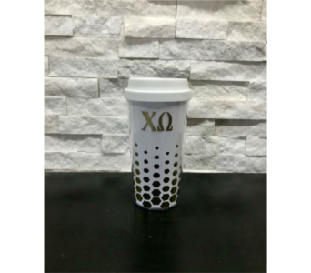 Chi Omega To Go Mug in Ft. Collins CO, Palmer Flowers