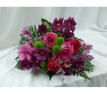Purple Passion Bouquet in Belleville ON, Barber's Flowers Ltd