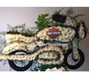 Harley Motorcycle in Jersey City NJ, Entenmann's Florist
